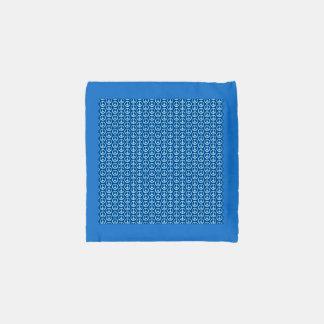 Signos de la paz retros en azul profundo bolsa reutilizable