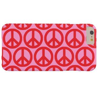 Signos de la paz rojos funda barely there iPhone 6 plus