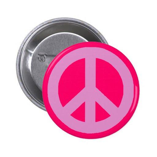 Signos de la paz rosados pins