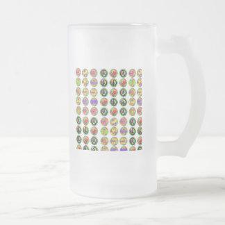 Signos de la paz tazas de café