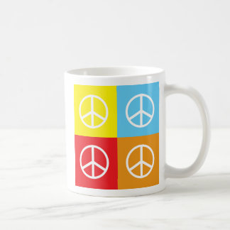 Signos de la paz taza de café