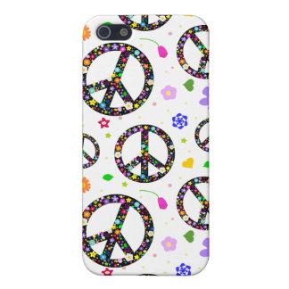 Signos de la paz y flores iPhone 5 cobertura