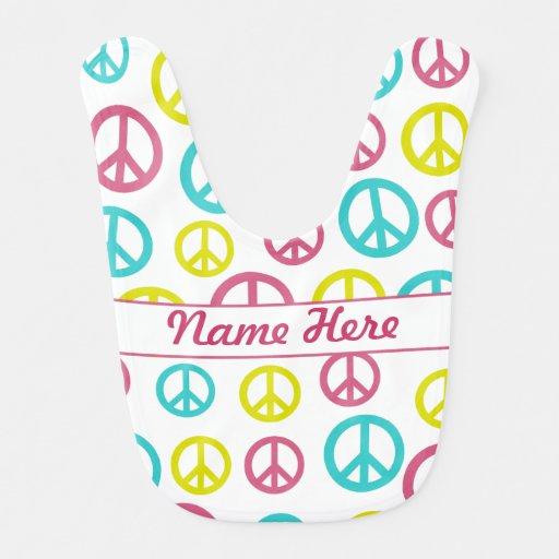 Signos de la paz babero para bebé