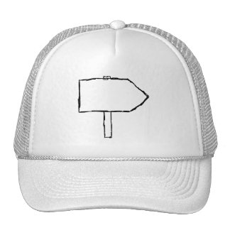 Signpost Arrow. Black and White. Trucker Hat