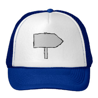 Signpost Arrow. Gray, Black and Blue. Trucker Hat
