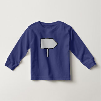 Signpost Arrow. Gray, Black and Blue. Tee Shirt