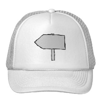 Signpost Arrow. Gray, Black and White. Trucker Hat