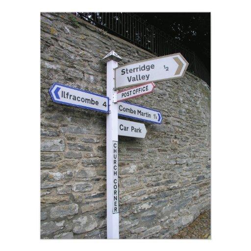 Signpost at Berrynarbor, North Devon, UK Photograph
