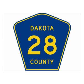 signpost Dakota Postcard