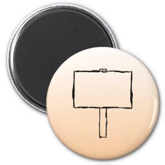 Signpost Notice. Black Sketch. 2 Inch Round Magnet