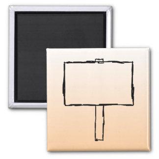 Signpost Notice. Black Sketch. 2 Inch Square Magnet