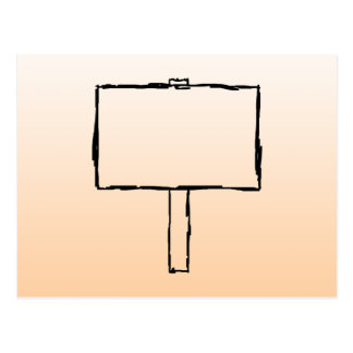 Signpost Notice. Black Sketch. Postcard