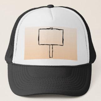 Signpost Notice. Black Sketch. Trucker Hat