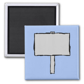 Signpost Notice. Blue. 2 Inch Square Magnet