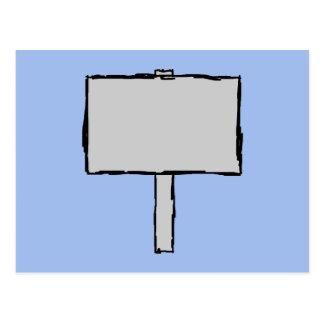 Signpost Notice. Blue. Postcard