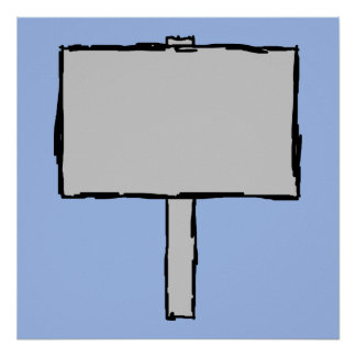 Signpost Notice. Blue. Poster