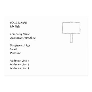 Signpost Notice. Gray and white. Large Business Cards (Pack Of 100)