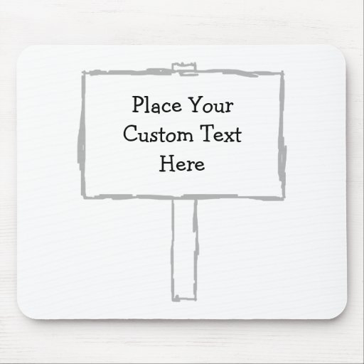 Signpost Notice. Gray and white. Mousepads