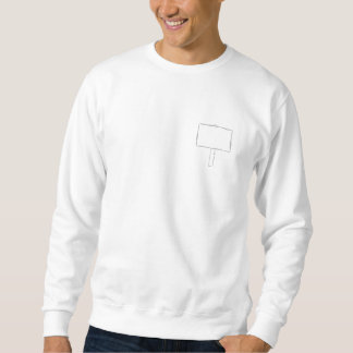 Signpost Notice. Gray and white. Pullover Sweatshirt