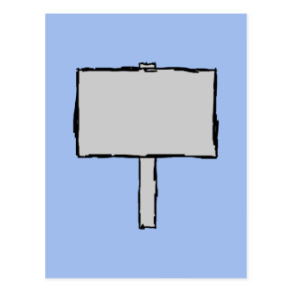 Signpost Notice Illustration. Blue. Postcard