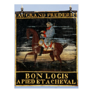 Signpost with Frederick the Great on Horseback Postcard
