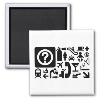 Signs 2 Inch Square Magnet
