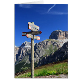 signs and Dolomites Card