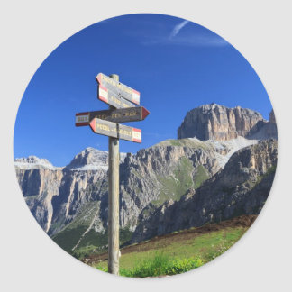 signs and Dolomites Classic Round Sticker