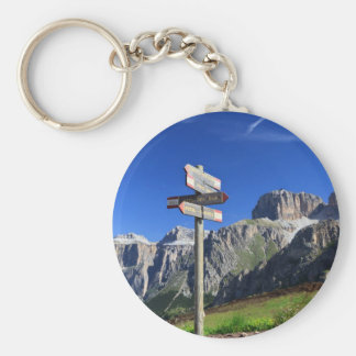 signs and Dolomites Keychain