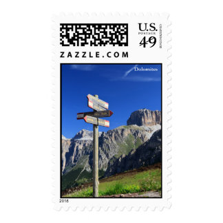 signs and Dolomites Postage Stamp