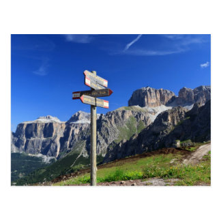 signs and Dolomites Postcard