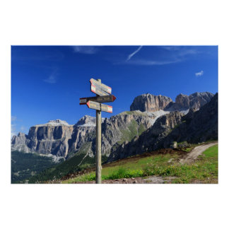 signs and Dolomites Poster
