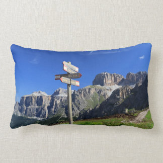signs and Dolomites Throw Pillows