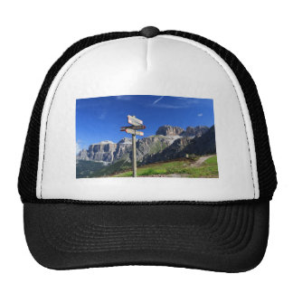 signs and Dolomites Trucker Hat