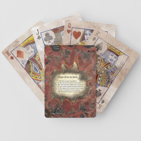 Signs From The Earth Bicycle Playing Cards