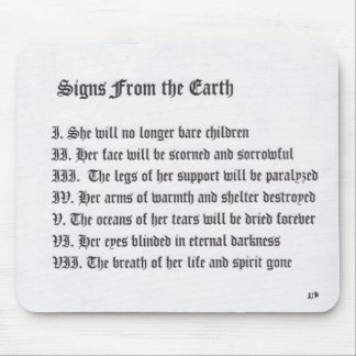 Signs From The Earth Mouse Pad