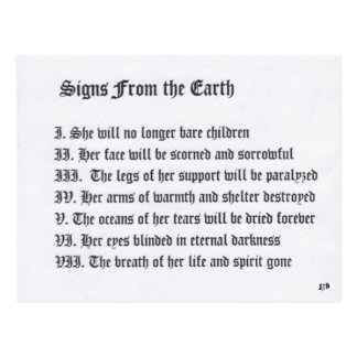 Signs From The Earth Postcard