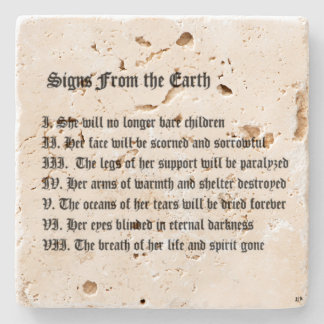 Signs From The Earth Stone Coaster