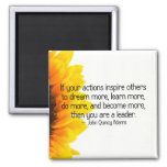 Signs of a true leader 2 inch square magnet
