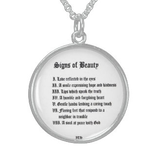 Signs of Beauty Sterling Silver Necklace