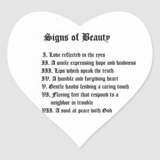 Signs of Beauty Stickers
