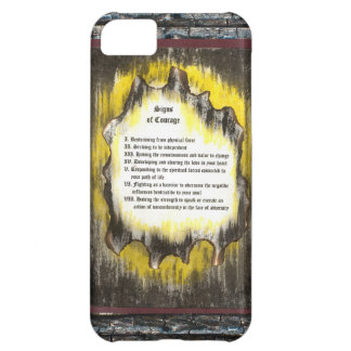 Signs of Courage Cover For iPhone 5C