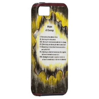Signs of Courage iPhone SE/5/5s Case