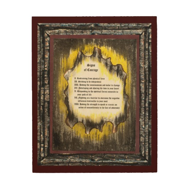Signs Of Courage Wood Wall Decor 922782
