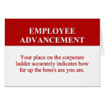 Signs of Employee Advancement (2) Card