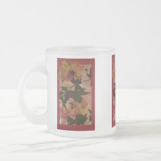 Signs of Fall Frosted Glass Coffee Mug