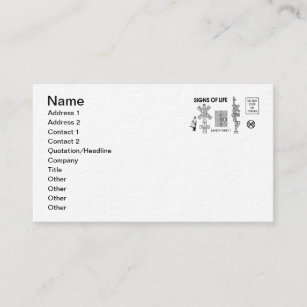 Vintage police business cards zazzle signs of life at railroad crossings business cards colourmoves