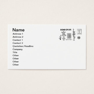 Signs Of Life at Railroad Crossings Business Cards