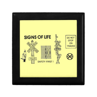 Signs Of Life at Railroad Crossings Gift Boxes