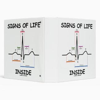 Signs Of Life Inside EMT Medical Heartbeat Humor Binder